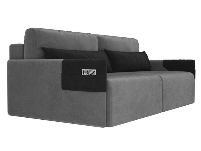 Прямой диван-кровать Армада серого цвета