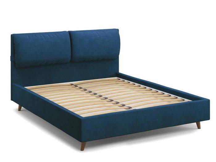 Кровать Trazimeno 160х200 синего цвета