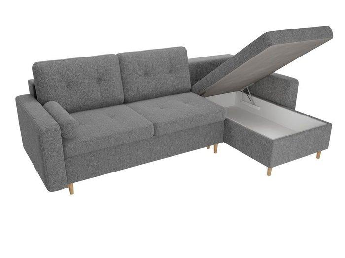 Угловой диван-кровать Белфаст серого цвета