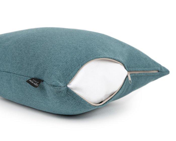 Декоративная подушка Bjork Lagoon 45х45 синего цвета