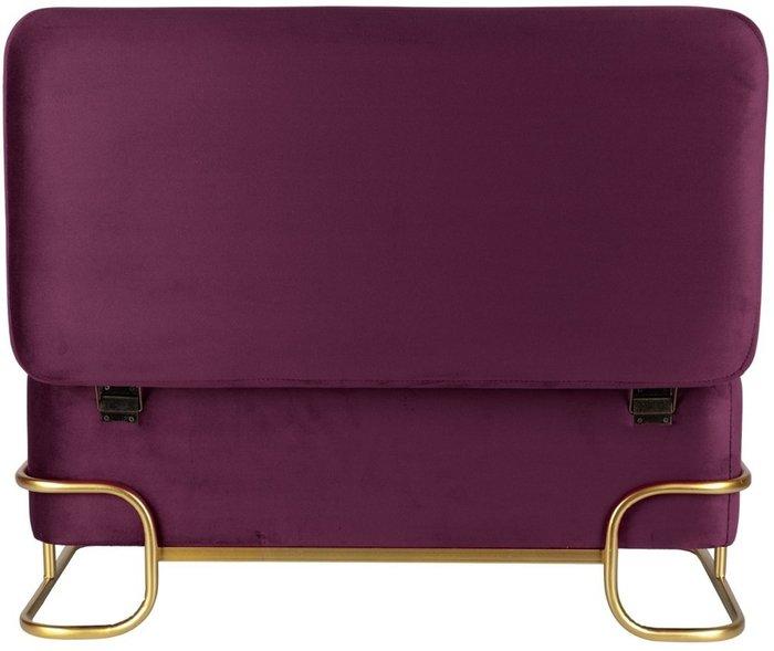 Банкетка бордового цвета на металлических ножках