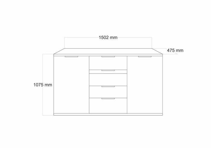 Комод с ящиками и дверцами Тоскано белого цвета
