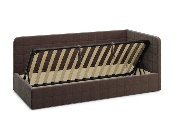 Кровать с подъемным механизмом Tichina 120х200 коричневого цвета