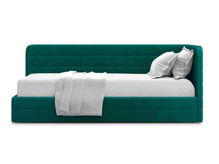 Кровать с подъемным механизмом Tichina 90х200 зеленого цвета