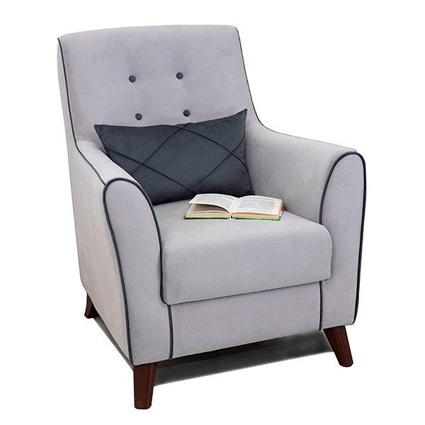 Кресло Френсис светло-серого цвета
