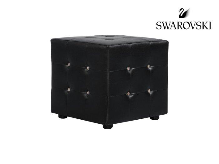 Пуф Kristal с кристаллами Swarovski черного цвета