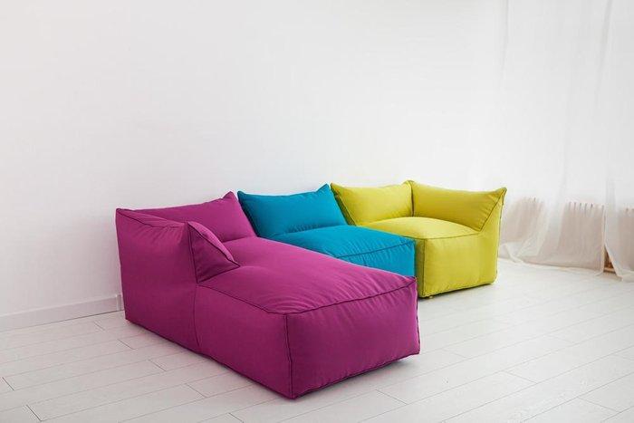 Лежак с подлокотником Angle розового цвета