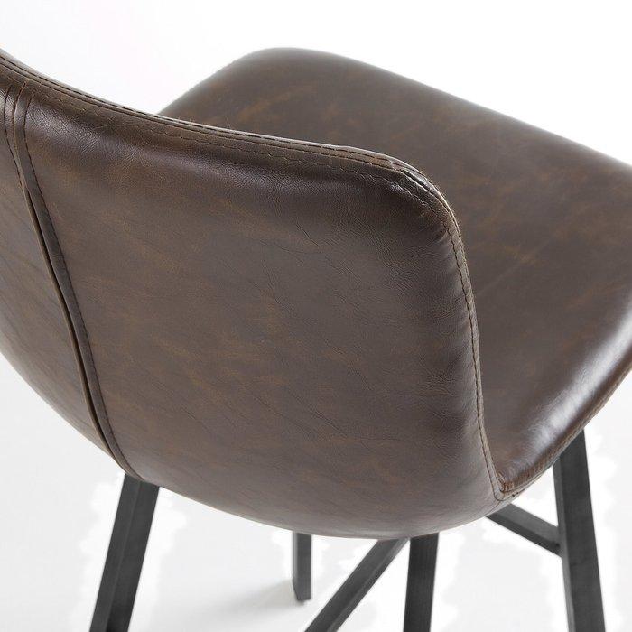 Барный стул TRAC темно-коричневого цвета
