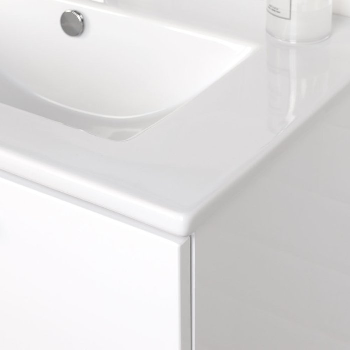 Подвесная тумба с раковиной White L белого цвета