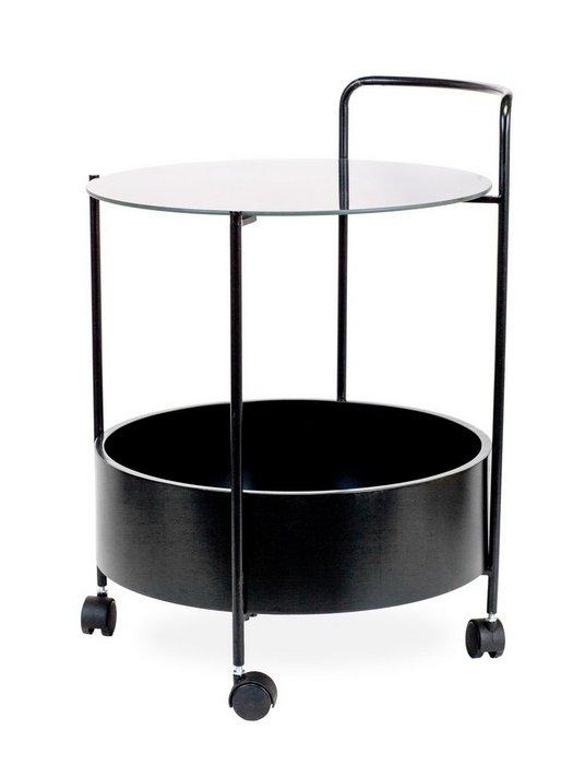 Столик с керамической столешницей и емкостью для хранения