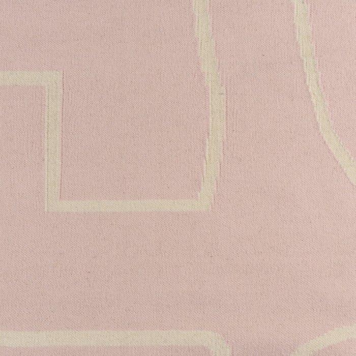 Ковер Poetry and steps из шерсти и хлопка цвета пыльной розы 160х230