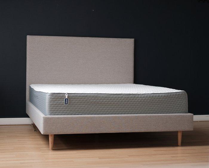 Кровать Beige с изголовьем бежевого цвета 140х200