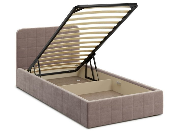 Кровать с подъемным механизмом Adda 120х200 темно-бежевого цвета