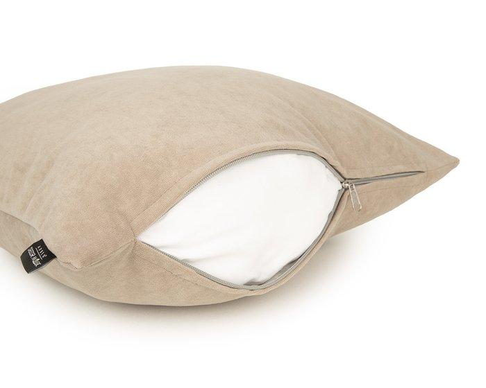 Декоративная подушка Ultra beige бежевого цвета
