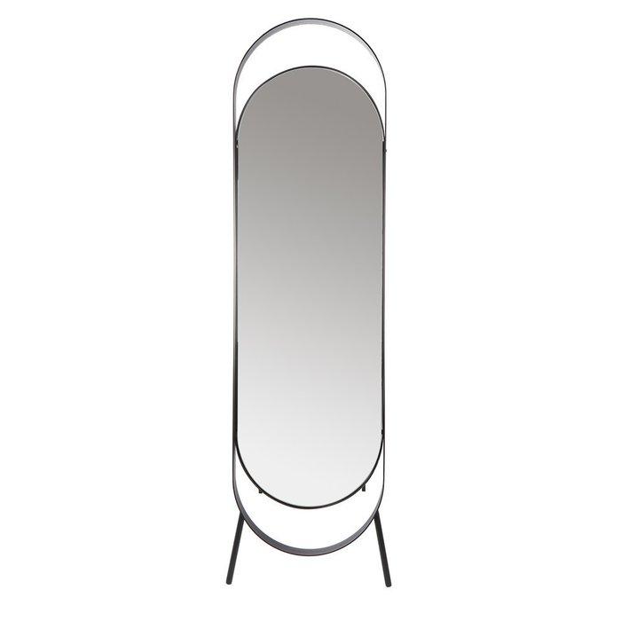 Зеркало напольное Вилла в черной раме