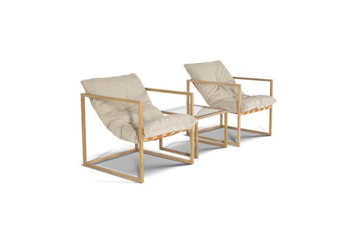 Кресло Лион коричневого цвета