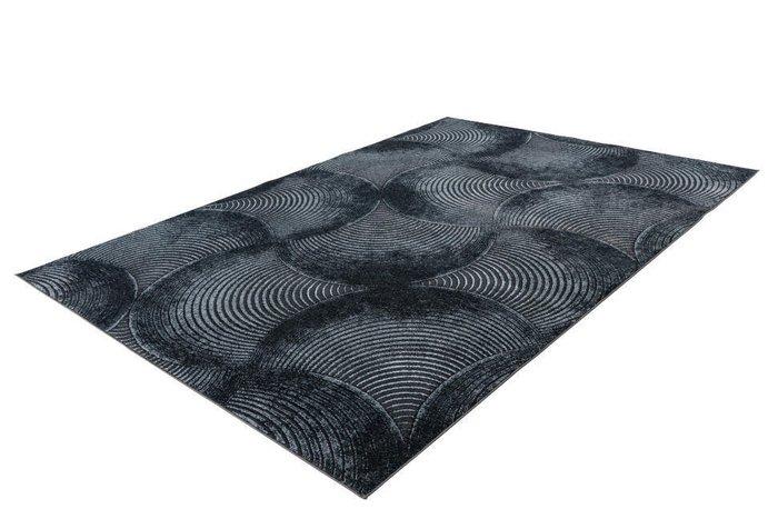 Рельефный ковер Greta Waves темно-серого цвета 200х290