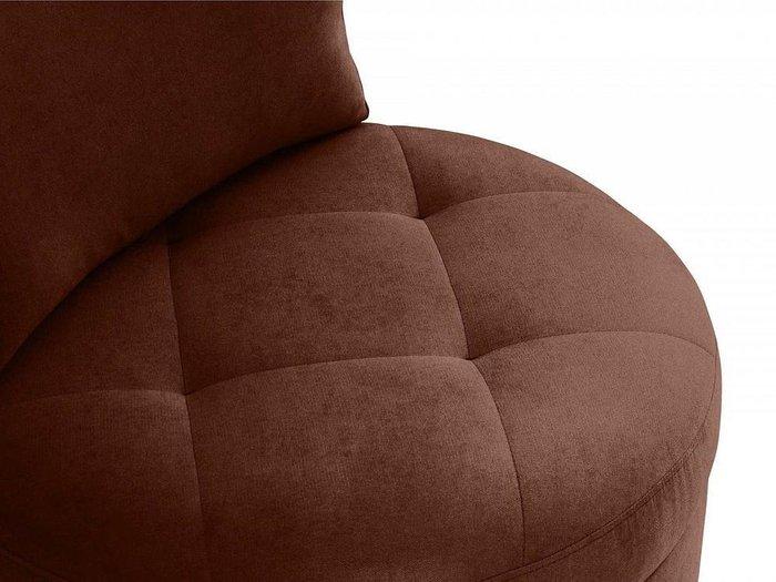 Кресло Wing Round темно-коричневого цвета