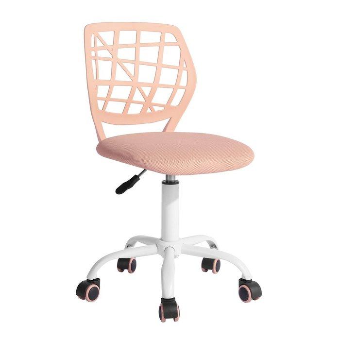 Кресло компьютерное детское Эльза розового цвета