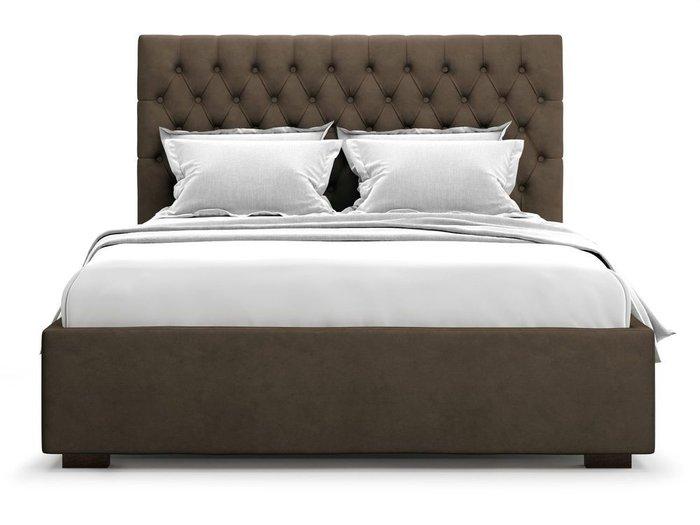 Кровать с подъемным механизмом Nemi 160х200 коричневого цвета