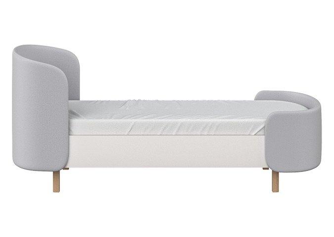 Кровать Kidi Soft 80х180 бело-серого цвета