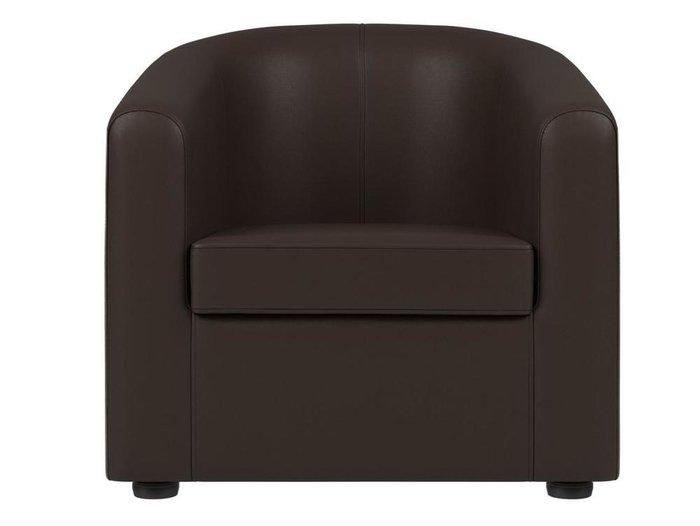 Кресло Норден коричневого цвета (экокожа)