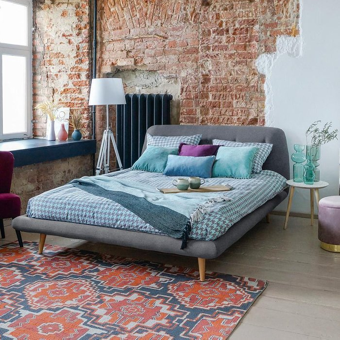 Кровать Loa 160х200 сиреневого цвета