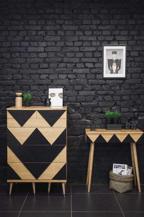 Консоль Woo Desk с узором светло-серого цвета