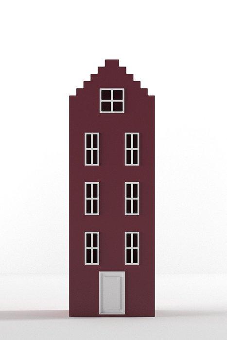 Шкаф-домик Брюгге Medium бордового цвета