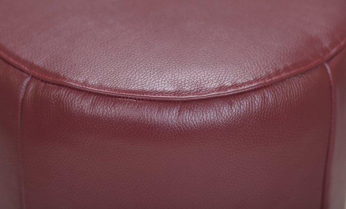 Пуф Topper brown leather коричневого цвета