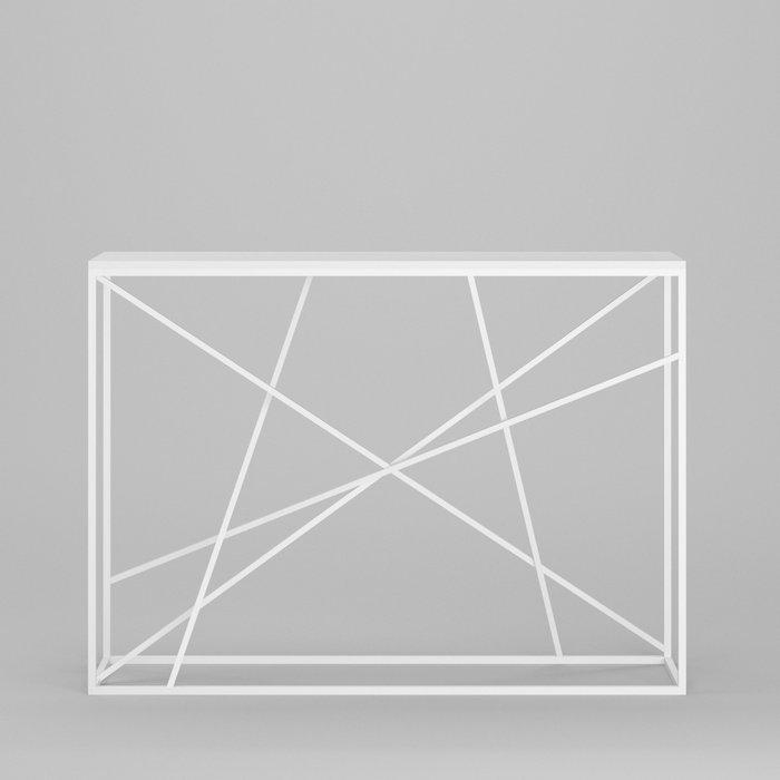 Консоль Wilson line white белый дуб матовый лак