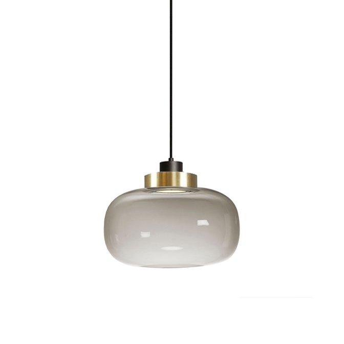 Подвесной светильник с плафоном из стекла дымчатого цвета