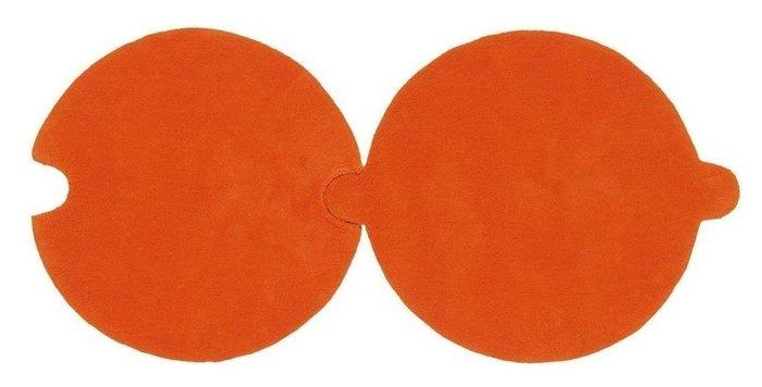 Круглый ковер Necklace оранжевого цвета 100 см