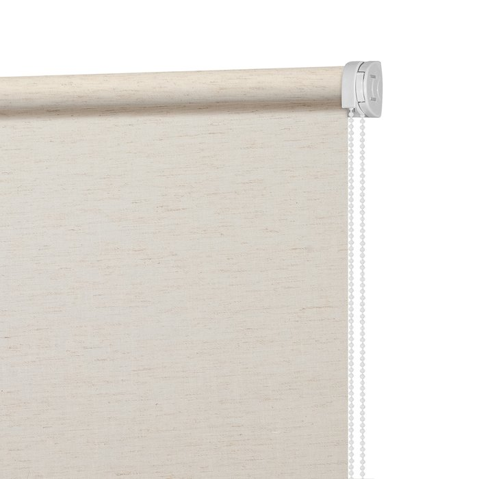 Рулонная штора Миниролл Натур светло-бежевого цвета 120x175