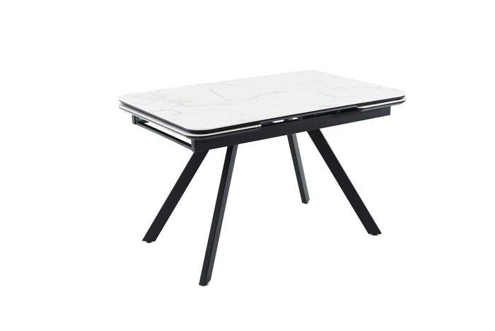 Раздвижной обеденный стол Леон с белой столешницей