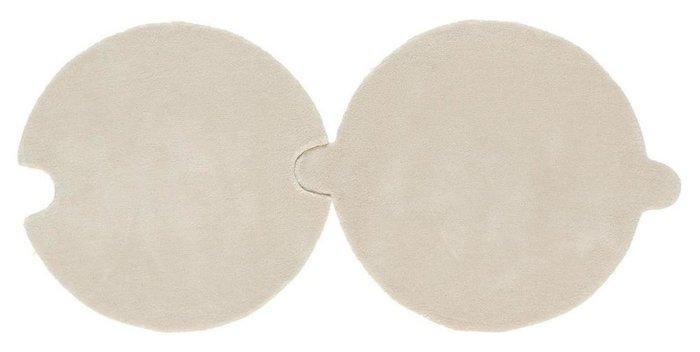 Круглый ковер Necklace светло-серого цвета 100 см