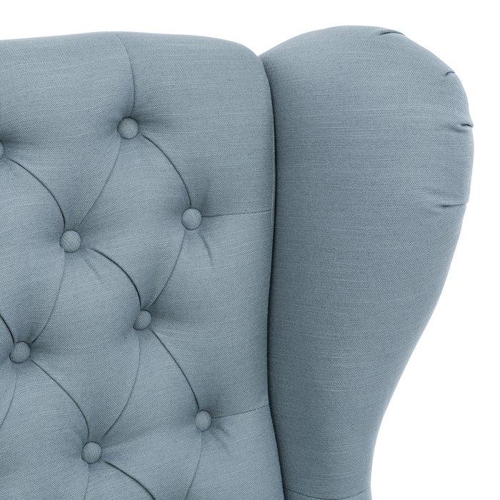 Кресло Винтаж серо-голубого цвета