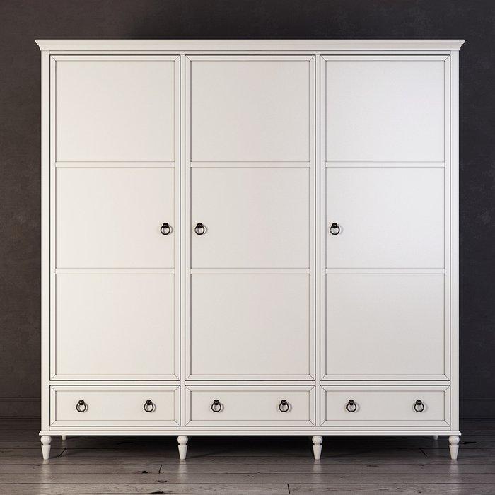 Шкаф трехстворчатый Vilton цвета слоновой кости