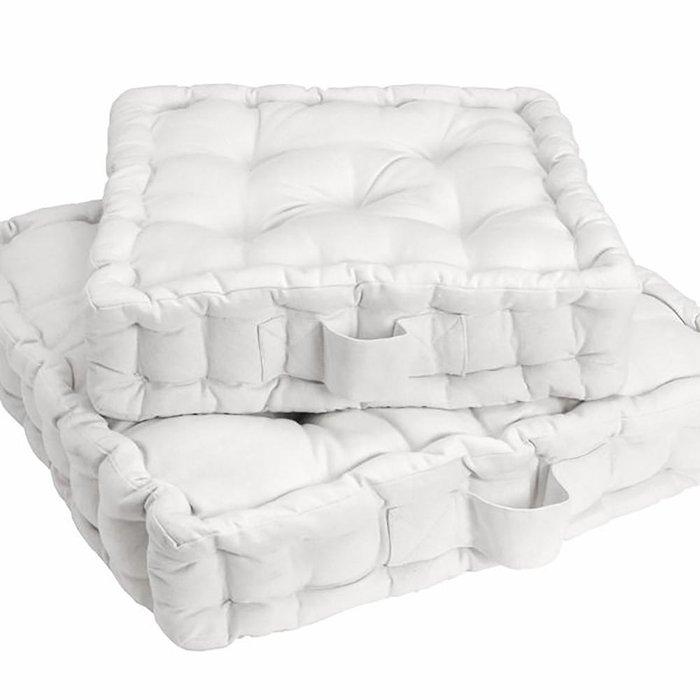 Напольная подушка Scenario белого цвета 50x50x10