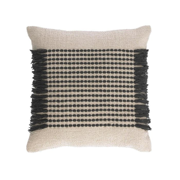Чехол для подушки Odelia 45x45 черно-бежевого цвета