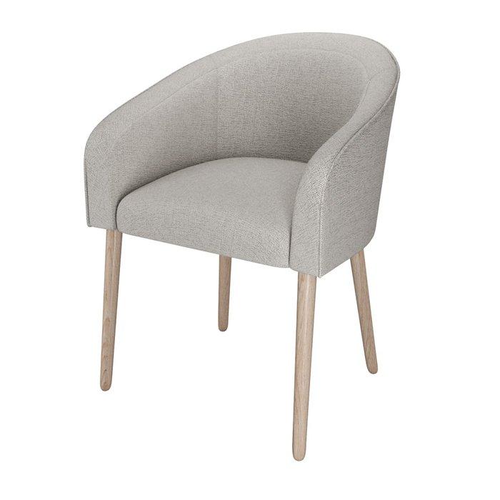 Стул-кресло мягкий Angelica серого цвета