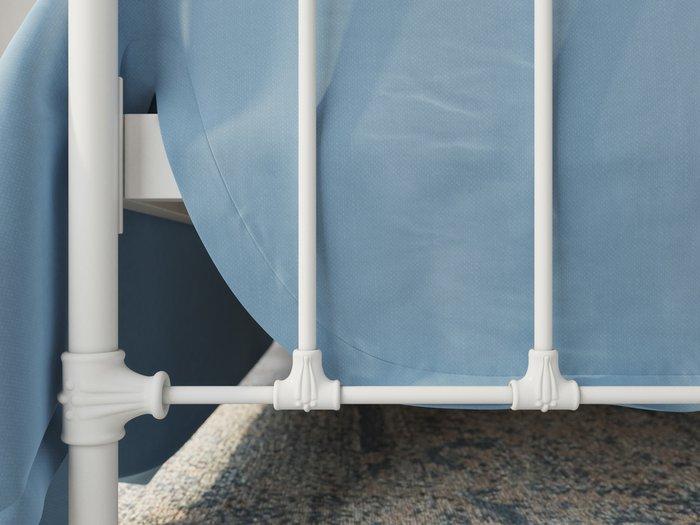 Кровать Полина 140х200 бело-глянцевого цвета
