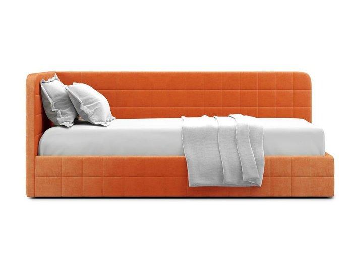 Кровать с подъемным механизмом Tichina left 90х200 оранжевого цвета