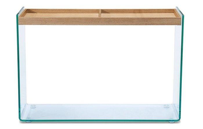 Консоль стеклянная Elba бежевого цвета