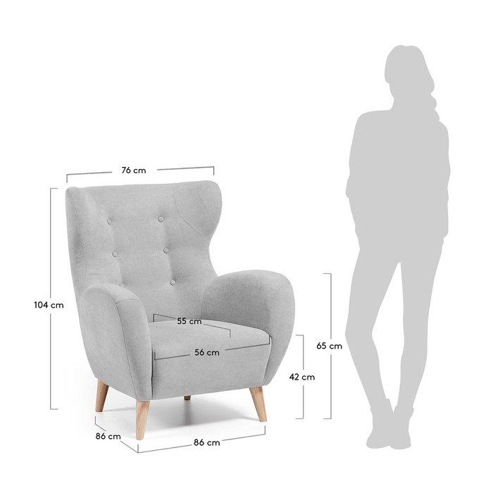 Кресло Julia Grup PASSO светло-серое