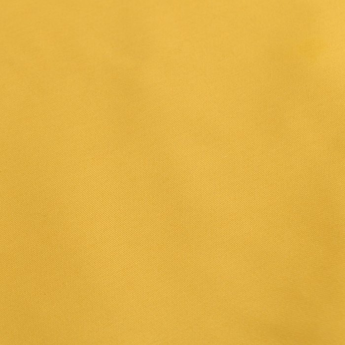 Простыня на резинке из сатина горчичного цвета 90х200х28
