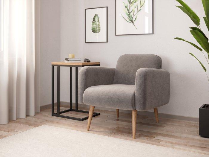 Кресло Уилбер серого цвета