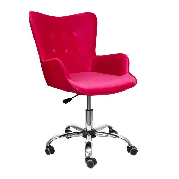 Кресло поворотное Bella красно-розового цвета