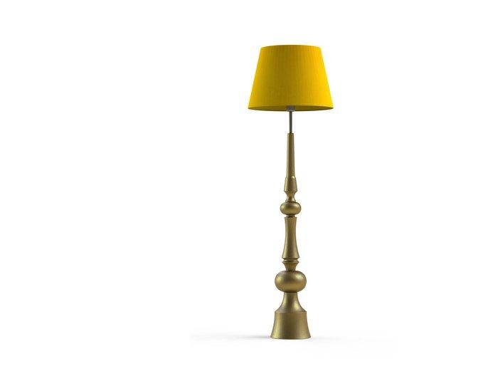Торшер AURORA Gold с абажуром из ткани