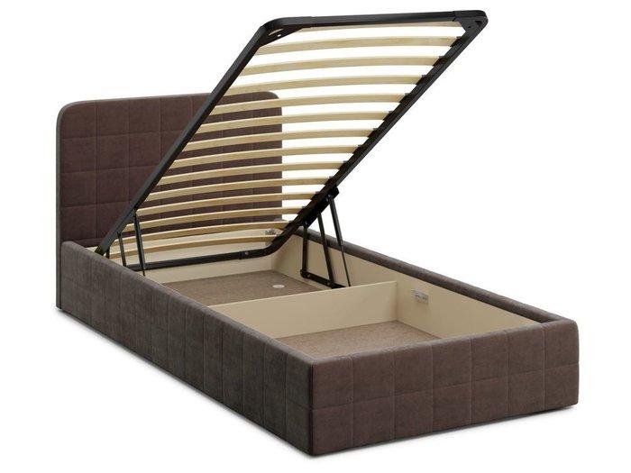 Кровать с подъемным механизмом Adda 120х200 коричневого цвета